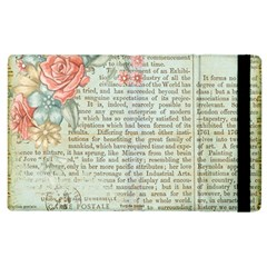 Vintage Floral Background Paper Apple Ipad 3/4 Flip Case