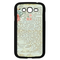 Vintage Floral Background Paper Samsung Galaxy Grand Duos I9082 Case (black)