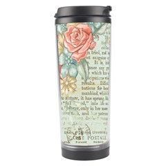 Vintage Floral Background Paper Travel Tumbler