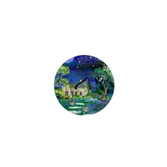 Background Fairy Tale Watercolor 1  Mini Buttons