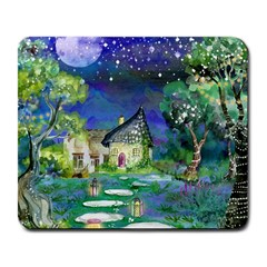 Background Fairy Tale Watercolor Large Mousepads