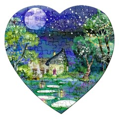 Background Fairy Tale Watercolor Jigsaw Puzzle (heart)