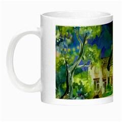 Background Fairy Tale Watercolor Night Luminous Mugs