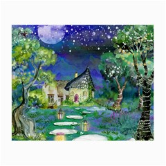 Background Fairy Tale Watercolor Small Glasses Cloth
