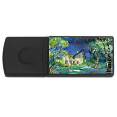 Background Fairy Tale Watercolor Rectangular Usb Flash Drive