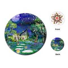 Background Fairy Tale Watercolor Playing Cards (round)