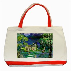 Background Fairy Tale Watercolor Classic Tote Bag (red)