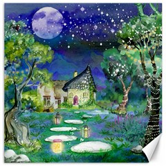 Background Fairy Tale Watercolor Canvas 12  X 12