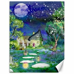 Background Fairy Tale Watercolor Canvas 12  X 16