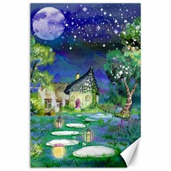 Background Fairy Tale Watercolor Canvas 24  X 36