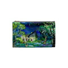 Background Fairy Tale Watercolor Cosmetic Bag (small)