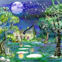 Background Fairy Tale Watercolor Magic Photo Cubes