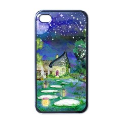 Background Fairy Tale Watercolor Apple Iphone 4 Case (black)
