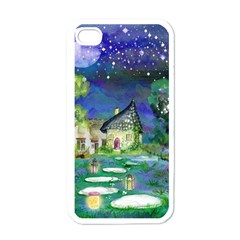 Background Fairy Tale Watercolor Apple Iphone 4 Case (white)