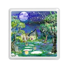 Background Fairy Tale Watercolor Memory Card Reader (square)