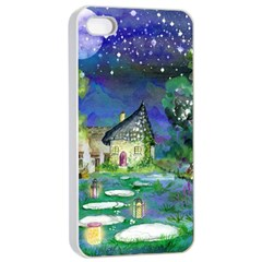 Background Fairy Tale Watercolor Apple Iphone 4/4s Seamless Case (white)