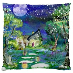 Background Fairy Tale Watercolor Large Cushion Case (one Side)