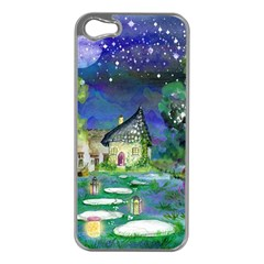 Background Fairy Tale Watercolor Apple Iphone 5 Case (silver)