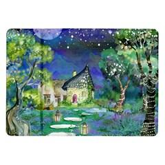 Background Fairy Tale Watercolor Samsung Galaxy Tab 10 1  P7500 Flip Case