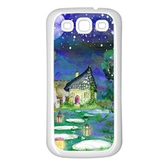Background Fairy Tale Watercolor Samsung Galaxy S3 Back Case (white)