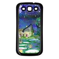 Background Fairy Tale Watercolor Samsung Galaxy S3 Back Case (black)