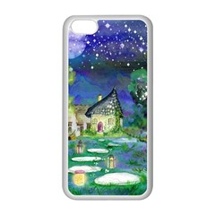 Background Fairy Tale Watercolor Apple Iphone 5c Seamless Case (white)