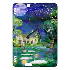 Background Fairy Tale Watercolor Kindle Fire Hdx Hardshell Case by Nexatart