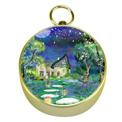 Background Fairy Tale Watercolor Gold Compasses