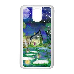Background Fairy Tale Watercolor Samsung Galaxy S5 Case (white)