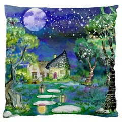 Background Fairy Tale Watercolor Standard Flano Cushion Case (one Side)