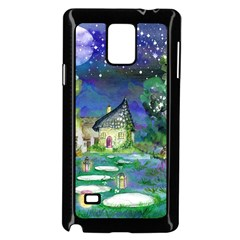Background Fairy Tale Watercolor Samsung Galaxy Note 4 Case (black)