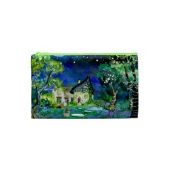 Background Fairy Tale Watercolor Cosmetic Bag (xs)
