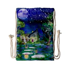 Background Fairy Tale Watercolor Drawstring Bag (small)