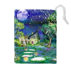 Background Fairy Tale Watercolor Drawstring Pouches (extra Large)