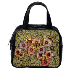 Flower Butterfly Cubism Mosaic Classic Handbags (one Side)