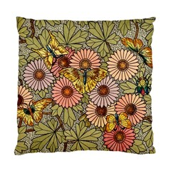 Flower Butterfly Cubism Mosaic Standard Cushion Case (two Sides)