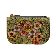 Flower Butterfly Cubism Mosaic Mini Coin Purses