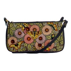 Flower Butterfly Cubism Mosaic Shoulder Clutch Bags
