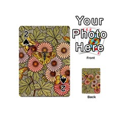 Flower Butterfly Cubism Mosaic Playing Cards 54 (mini)