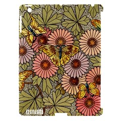 Flower Butterfly Cubism Mosaic Apple Ipad 3/4 Hardshell Case (compatible With Smart Cover)