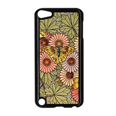 Flower Butterfly Cubism Mosaic Apple Ipod Touch 5 Case (black)