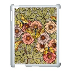 Flower Butterfly Cubism Mosaic Apple Ipad 3/4 Case (white)
