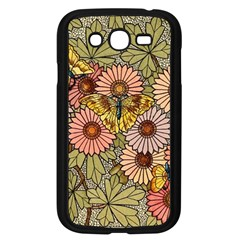 Flower Butterfly Cubism Mosaic Samsung Galaxy Grand Duos I9082 Case (black)