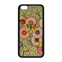 Flower Butterfly Cubism Mosaic Apple Iphone 5c Seamless Case (black)