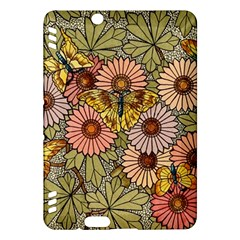 Flower Butterfly Cubism Mosaic Kindle Fire Hdx Hardshell Case