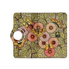 Flower Butterfly Cubism Mosaic Kindle Fire Hdx 8 9  Flip 360 Case