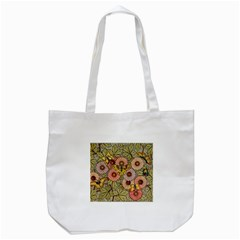 Flower Butterfly Cubism Mosaic Tote Bag (white)