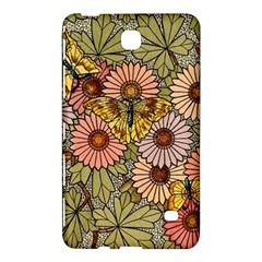 Flower Butterfly Cubism Mosaic Samsung Galaxy Tab 4 (7 ) Hardshell Case  by Nexatart