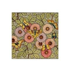 Flower Butterfly Cubism Mosaic Satin Bandana Scarf