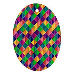 Background Geometric Triangle Ornament (oval)